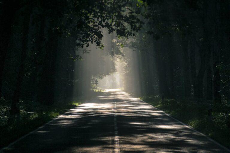 asfalt mørk daggry endeløs